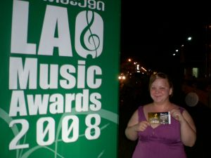 Me at the Lao Music Awards